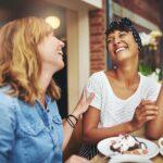 Women happy talking